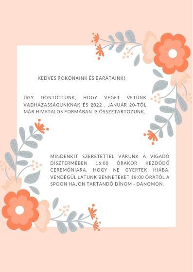 esküvői meghívó minta
